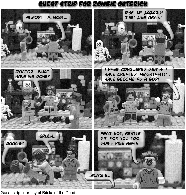 Guest Strip from Bricks of the Dead
